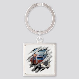 trucking Square Keychain