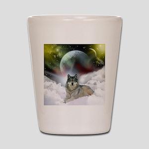 fantasy wolf Shot Glass