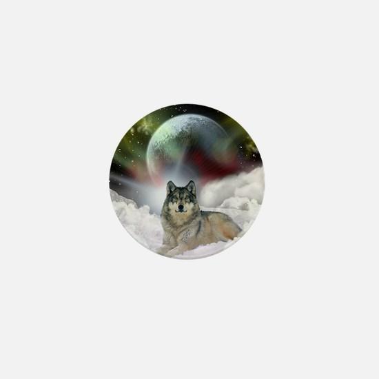 fantasy wolf Mini Button