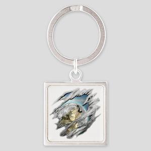 wolf Square Keychain