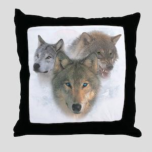 2-wolfs Throw Pillow