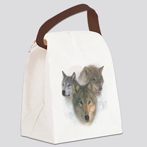 2-wolfs Canvas Lunch Bag