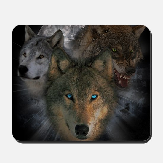 2-wolves Mousepad