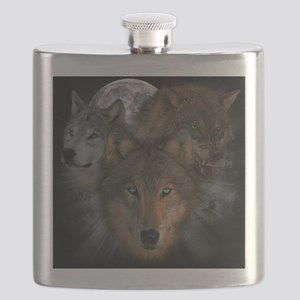 2-wolves Flask