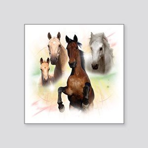 "Horses Square Sticker 3"" x 3"""