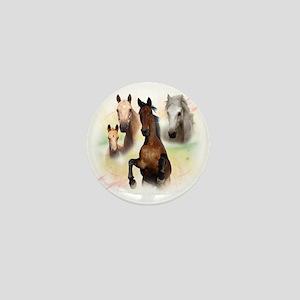 Horses Mini Button
