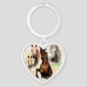 Horses Heart Keychain