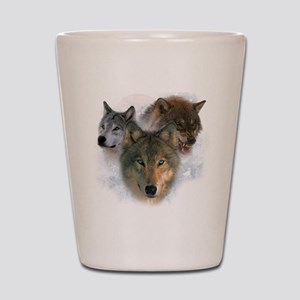 wolves Shot Glass