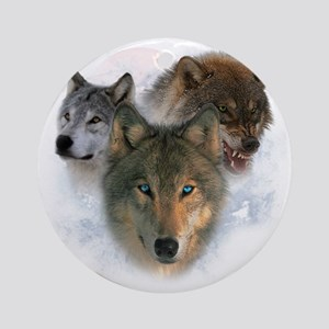 wolves Round Ornament