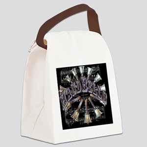 2-handbells black mousepad Canvas Lunch Bag