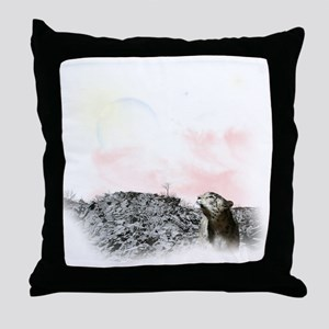 2-snow leopard Throw Pillow
