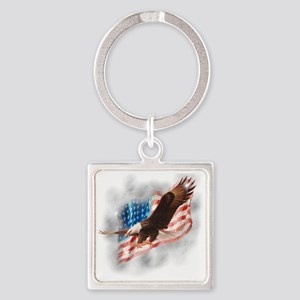 Faded Glory Square Keychain