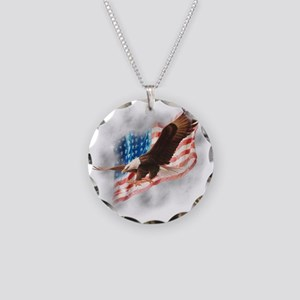 Faded Glory Necklace Circle Charm