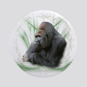 gorilla1 Round Ornament