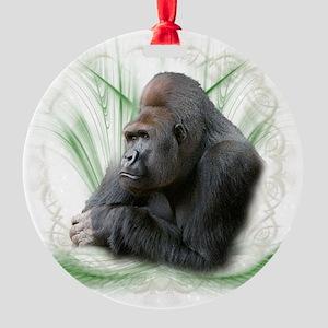 gorilla1 Round Ornament