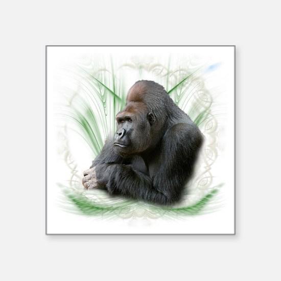 """gorilla1 Square Sticker 3"""" x 3"""""""