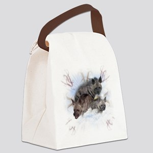 Striped Hyenas Canvas Lunch Bag