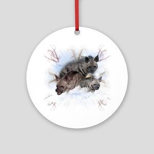 Striped Hyenas Round Ornament