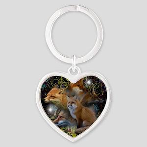 Foxy Heart Keychain