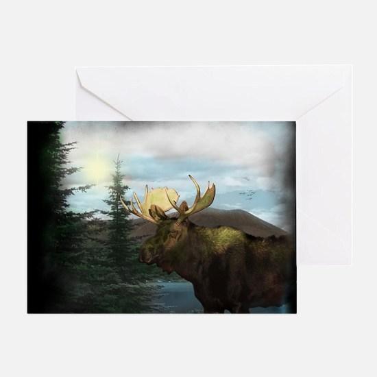 2-Moose2 Greeting Card