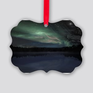northern lights cafe Picture Ornament