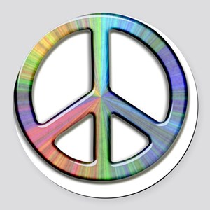 peace Round Car Magnet