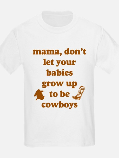 Grow Up Cowboy Kids T-Shirt