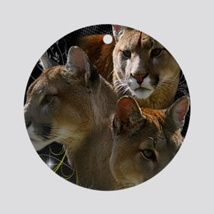 Cougars Round Ornament