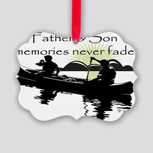 Father and Son Picture Ornament