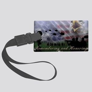 Remember the Heros Large Luggage Tag