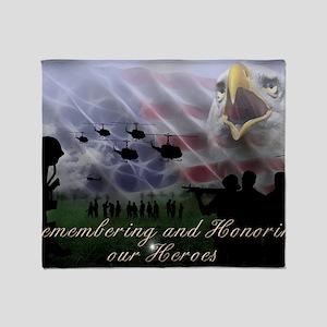 Remember the Heros Throw Blanket