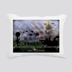 Remember the Heros Rectangular Canvas Pillow