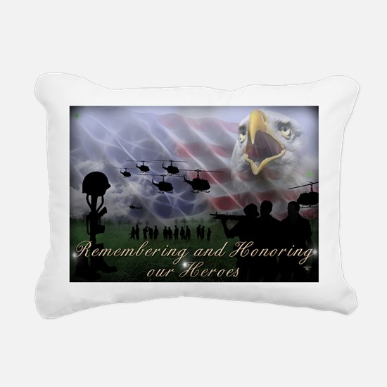 Remember the Heros Rectangular Canvas Pillow