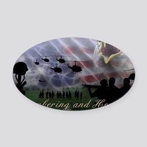 Remember the Heros Oval Car Magnet