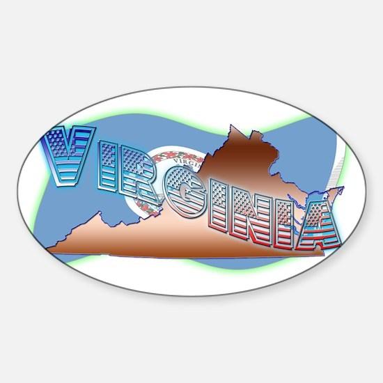 Virginia Sticker (Oval)