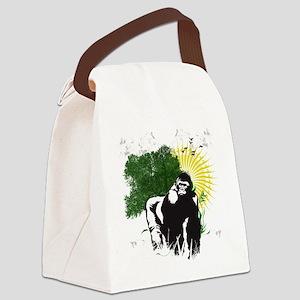 gorilla sunset Canvas Lunch Bag
