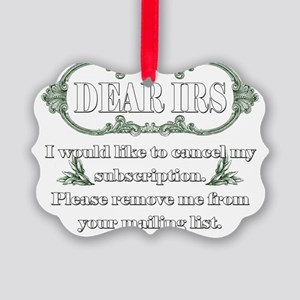 Dear IRS Picture Ornament