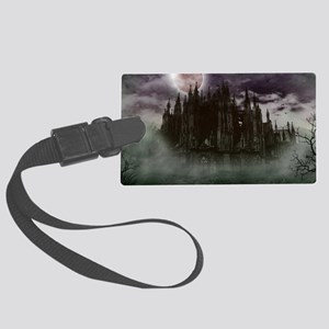 cathedral moon Large Luggage Tag