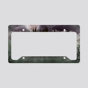 cathedral moon License Plate Holder