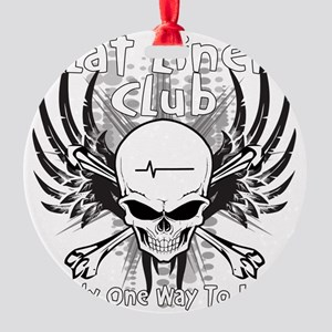 flatliner club back Round Ornament