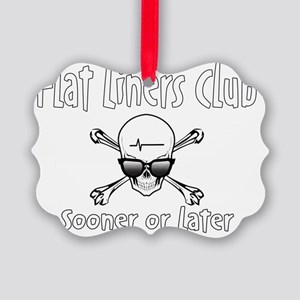 flatliner club front Picture Ornament