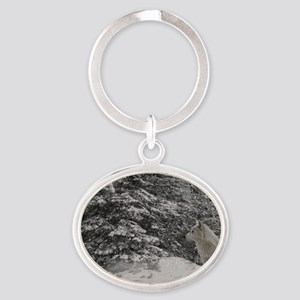 Untitled-10 Oval Keychain