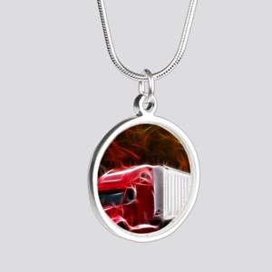 Highway to Hell Silver Round Necklace