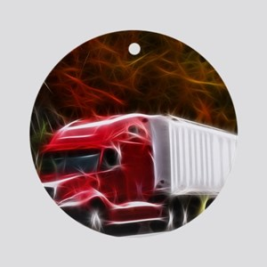 Highway to Hell Round Ornament