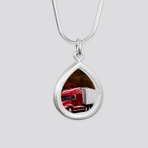 Highway to Hell Silver Teardrop Necklace