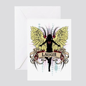 Live-Love-Laugh Greeting Card