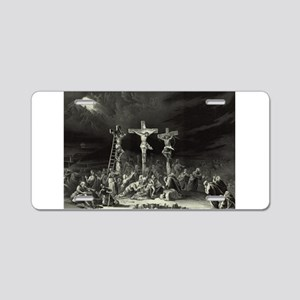 The Crucifixion - 1849 Aluminum License Plate