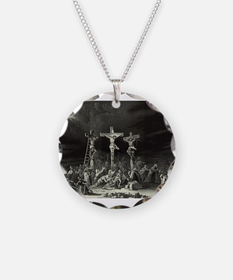 The Crucifixion - 1849 Necklace Circle Charm