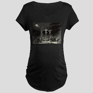 The Crucifixion - 1849 Maternity Dark T-Shirt