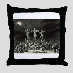 The Crucifixion - 1849 Throw Pillow